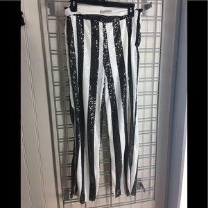 BNWT Zara Striped sequin Pants